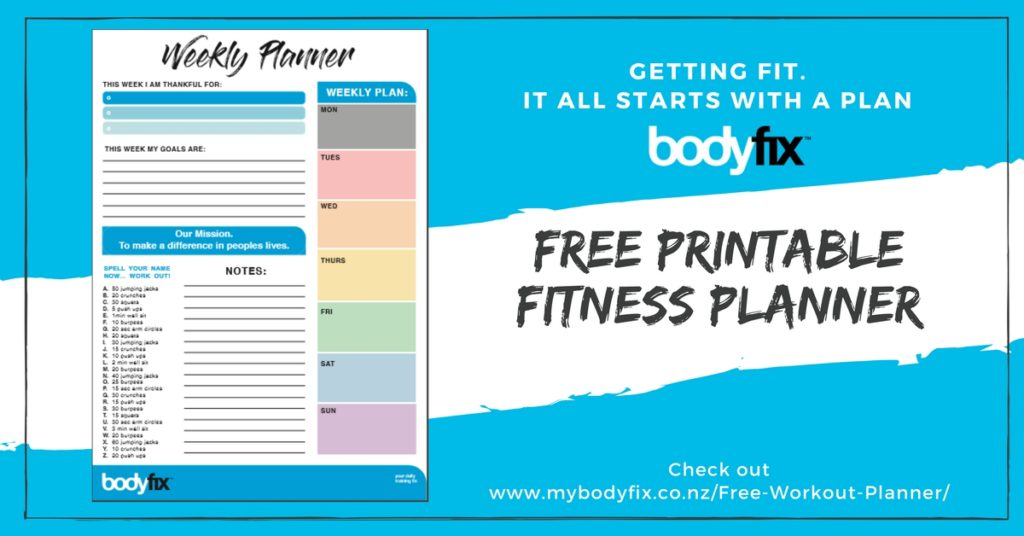 free fitness planner