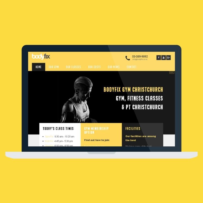 new gym website